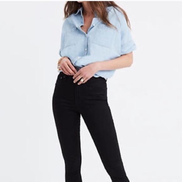 Madewell Denim - Madewell 10'' High Riser Skinny Skinny Crop Jeans